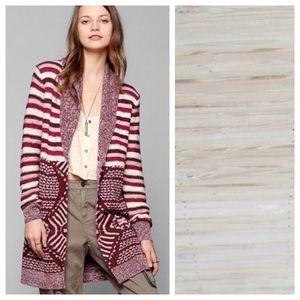 Urban Outfitters Ecote Mix Intarsia Cardigan